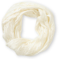 D&Y Ivory Speckle Knit Infinity Scarf