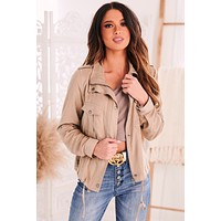 Sweeter Than Cider Lightweight Jacket (New Taupe)