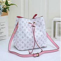 Louis Vuitton LV Fashion Leather Bucket Bag Crossbody Shoulder Bag Satchel