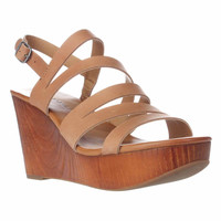 Lucky Brand Marinaa Wedge Strappy Sandals - Clay