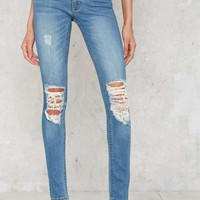 RES Denim Kitty Skinny Jeans - Faded Blue