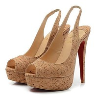 Christian Louboutin Fashion Edgy Red Sole Heels Shoes-8