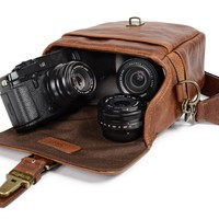 ONA   The Leather Bond Street Camera Bag and Insert - Antique Cognac