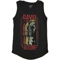 David Bowie Women's  Triple Bowie Womens Tank Black
