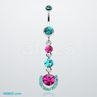 Vivacious Crystals Belly Button Ring