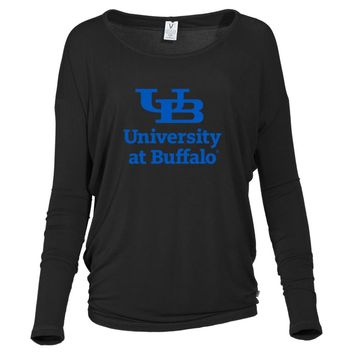 Official NCAA University at Buffalo Bulls - PPBUF04 Women's Loose Pico Top