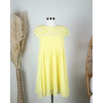 Floral Crochet Lace Cap Sleeve Summer Dress in More Colors