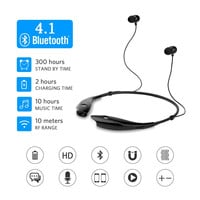 Bluetooth Headphones, SoundPEATS Wireless Headset Stereo Neckband Sport Earbuds with Mic