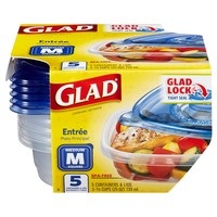 Glad Entrée Food Storage Containers 25 oz 5 ct