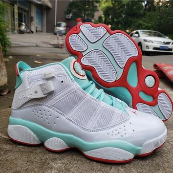 WMNS Air Jordan Six Rings - White/Ice Blue Sneaker Shoes
