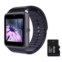 GT08 Bluetooth Smart Watch Phone with SIM Card Slot 2MP Camera MTK6260A SmartWatch Support TF Card For Apple Android Smartphones