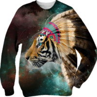 Fight For What You Love • Chief of Dreams: Tiger Unisex Sweatshirt (Limited Edition) created by soaringanchordesigns | Print All Over Me