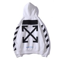 OFF- WHITE Autumn and Winter Classic Base Arrow Slanted Sweatshirt