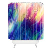 Caleb Troy Paint Feathers In The Sky Shower Curtain