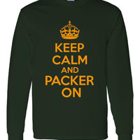 Keep Calm And Packer On Women Men Unisex Long Sleeve Crew Neck