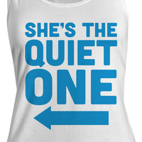Women's She's The Quiet One Best Friend Cotton Tank Top (Right)