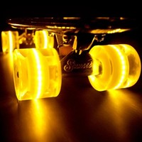 """Sunset """"Banana"""" (Yellow Deck with Yellow Flare LED Wheels)"""