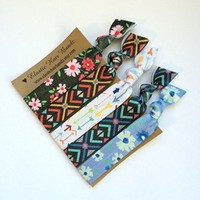 The Daisy Elastic Hair Tie OR Headband Collection Exclusively by Elastic Hair Bandz (Hair Ties)