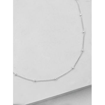 Beaded Chain - Silver
