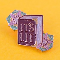 It's Lit Book Enamel Pin