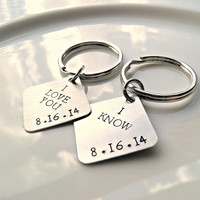 Star Wars Stubborn Couples Keychain Set. I LOVE YOU - I KNOW Humor key chains