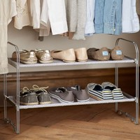 2-Tier Closet Shoe Rack