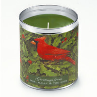 Personalized Red Cardinals Candle