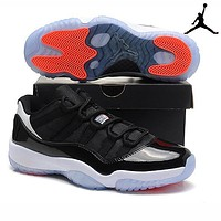 Bunchsun Air Jordan 11 Fashion Men Retro Sport Running Basketball Shoes Sneakers Black