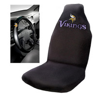 Minnesota Vikings NFL Car Seat Cover and Steering Wheel Cover Set