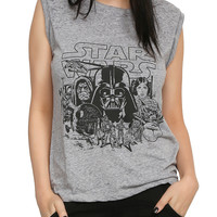 Star Wars Classic Burnout Girls Muscle Top
