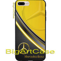 Best Mercedes Benz Gold Logo Design Art Print On Hard CASE iPhone 6/6s 6s+ 7 7+