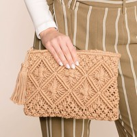 Just Coasting Woven Clutch