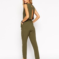 ASOS Jumpsuit with Open Back and Pleat Detail