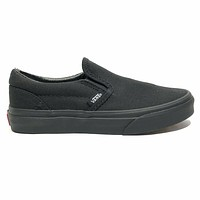 Vans Classic Slip On Triple Black Kids Skate Shoes