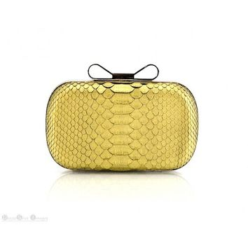 Circle & Square | Minaudiere Gold Python