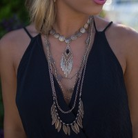 By The Sea Layered Necklace In Gold