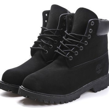 """Timberland"" Boos With Fur Upper Leather Black"