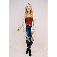 Life's A Parade Confetti Knit Cardigan, Natural | Extended Sizes Available
