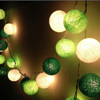Pretty up your Party with Green Cotton Ball String Lights