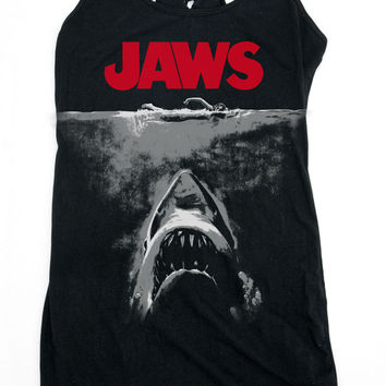 JAWS Black and White Poster Dress