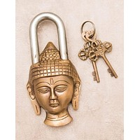 Antique Brass Buddha Lock