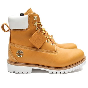 Stussy x Timberland - 6-Inch Leather Zip Boot (Wheat)