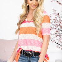 Candy Vibrant Striped Top