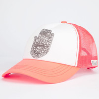 Billabong Talk To The Hand Womens Trucker Hat Coral One Size For Women 25259231301