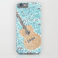 individually pasted hexagons by hand in a guitar shape.. my hand hurts now...   iPhone & iPod Case by Studiomarshallarts