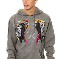 The Tiger Tooth Pullover Hoody in Heather Gray