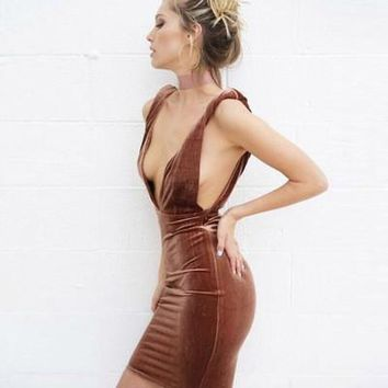 Sexy Backless Gradient Color Erotic One Piece Dress _ 13428
