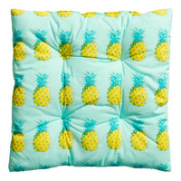 H&M - Patterned Seat Cushion - Mint green