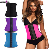 Womdee Sport Latex Waist Cincher Trainer Hot Body Shaper Fast Weight Loss Girdle Slimming Belt Training Corsets Underbust