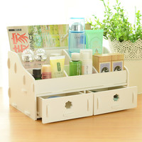 Wood drawer jewelry box Desk storage boxes cosmetic organizer Office organizer debris Shelf finishing for home decor Bathroom